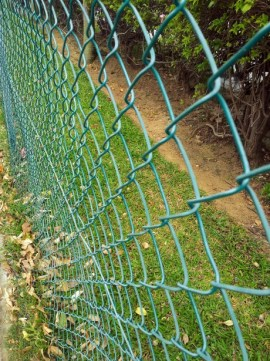 Green Fuse Bonded Fencing Green colored chain link for sale