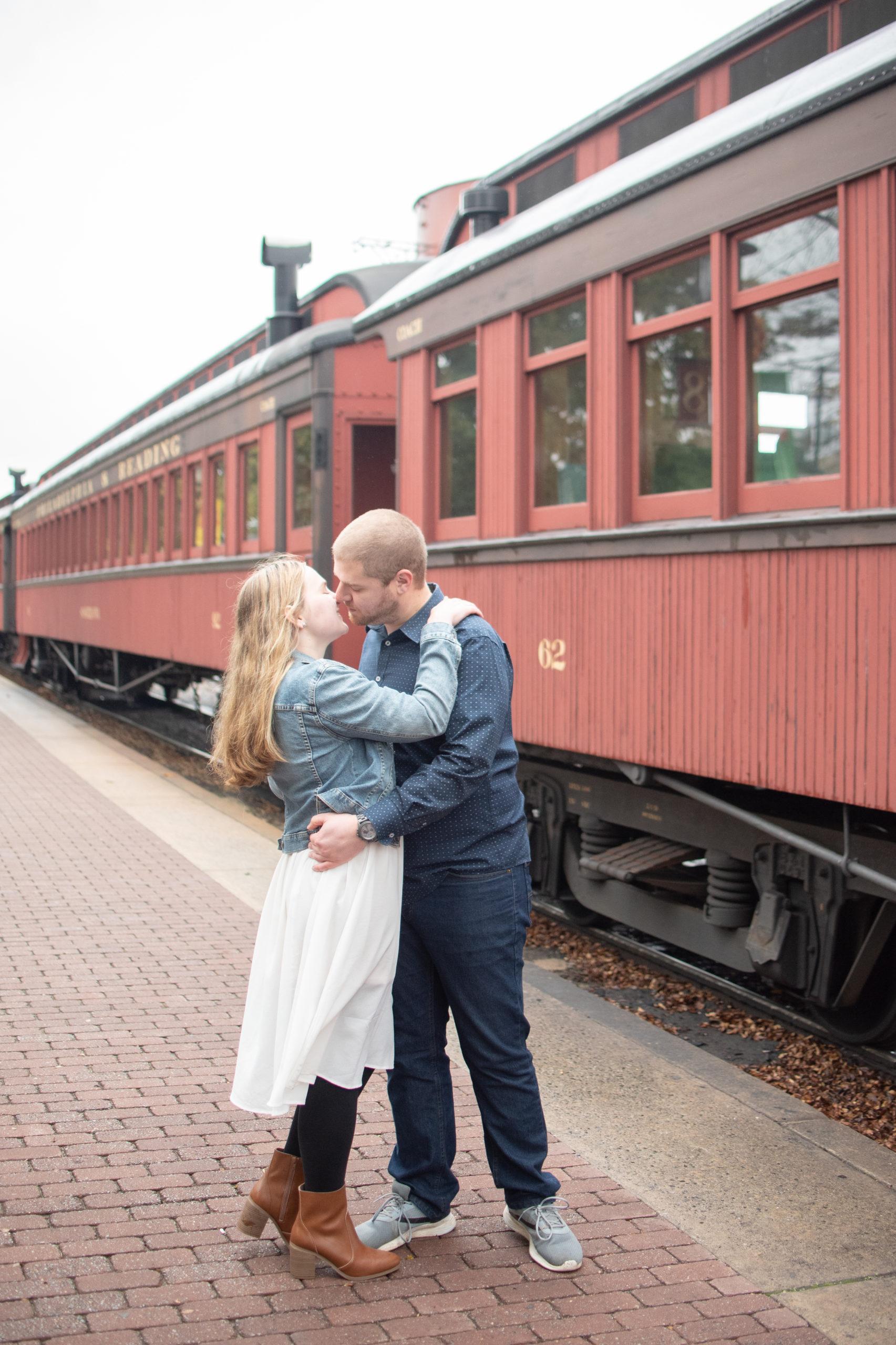 Lancaster Pa Strasburg Railroad Samantha & Brad Engagement Session