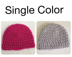 Single Color Crochet Hats