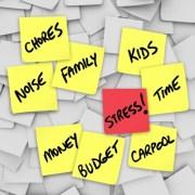 chores,family,kids,stress,job,money,health