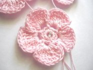 Pink Thread Crochet Flower