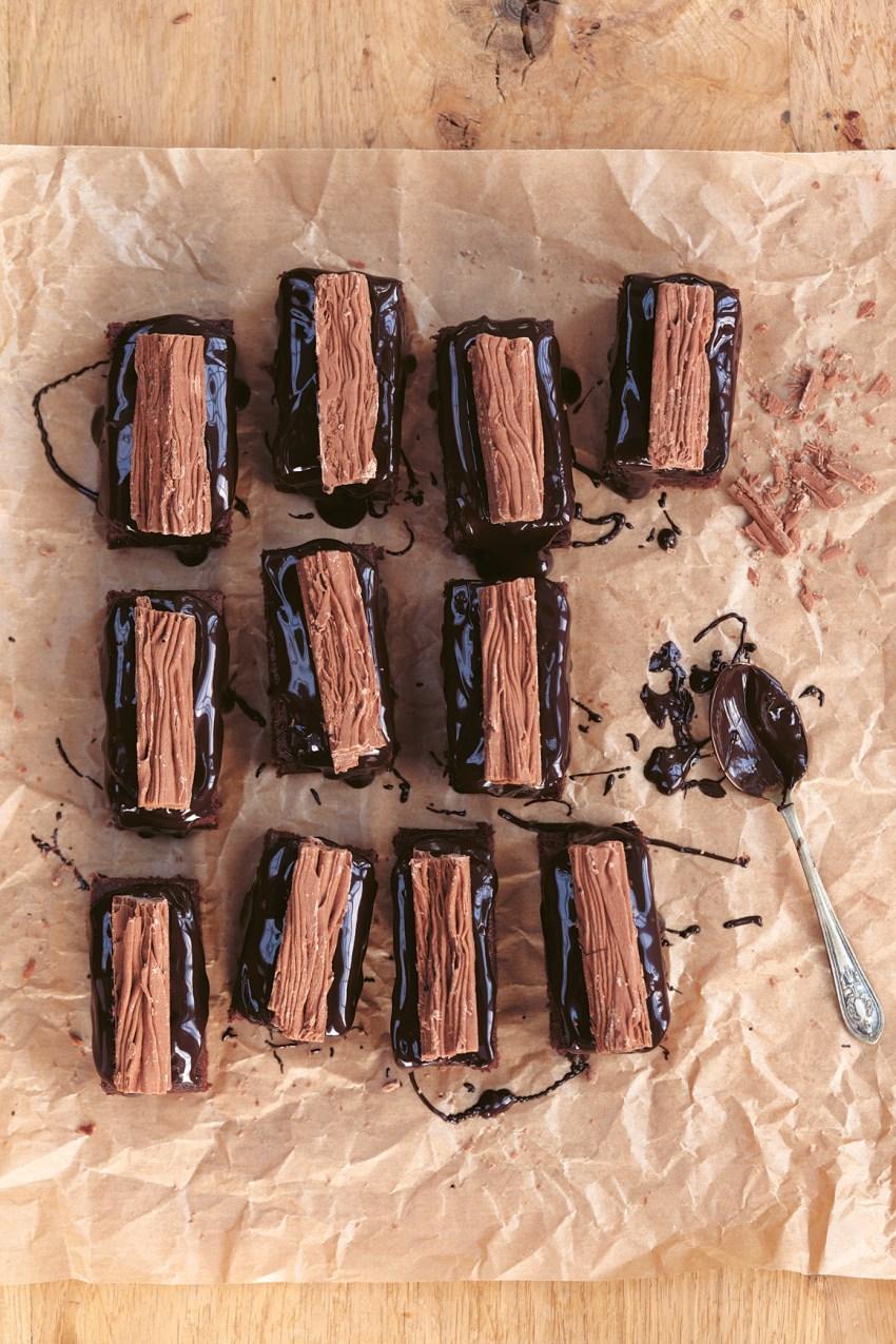 Chocolate Jammy Flake Bars