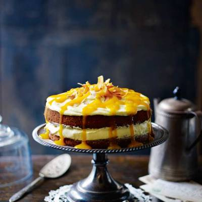 Coconut Cake with Mango Cream Cheese – Sainsbury's Magazine