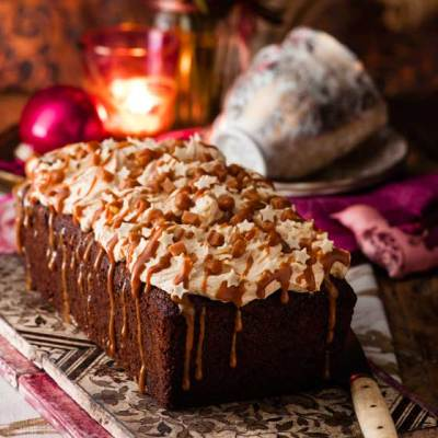 Butterscotch Date Loaf Cake with Caramel Icing – Sainsbury's Magazine