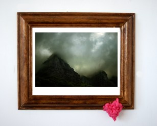 Wanderer above the sea of smog (2014) Framed Digital Print, Bubblegum