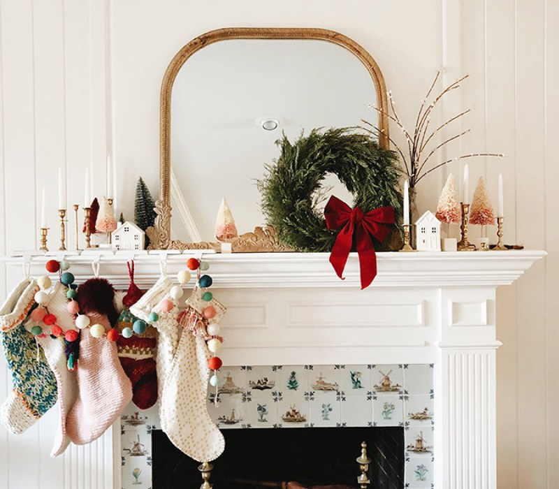 Beautiful Modern Christmas Fireplace Mantle Decor Miranda Schroeder