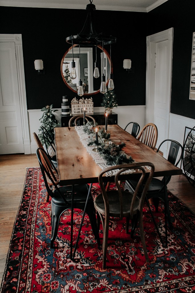 A Modern, Moody, Victorian Home at Christmas | Miranda Schroeder Blog  https://mirandaschroeder.com/  Welcome to our home at Christmas! I like to break tradition and decorate for the holidays with black and white. I pride myself for curating holiday decor that is vintage & second! If you are looking for ways to decorate your home for the holidays on a budget, you are in the right place.