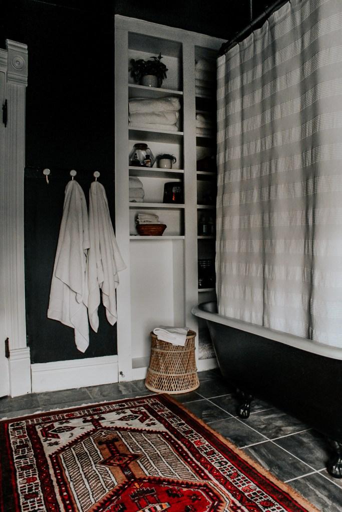 A Modern, Moody, Victorian Home at Christmas | Miranda Schroeder Blog  https://mirandaschroeder.com/  Black & White Christmas Decor Vintage Christmas Decor Holiday Home Tour