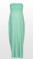 Minty smocked maternity maxi dress
