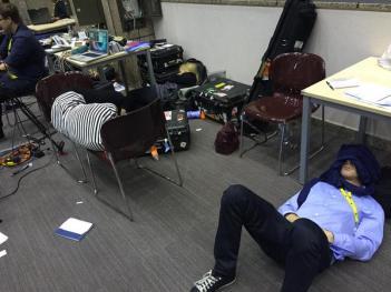 Periodistas en la cumbre del Eurogrupo sobre Grecia