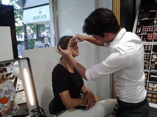 Sesión de maquillaje