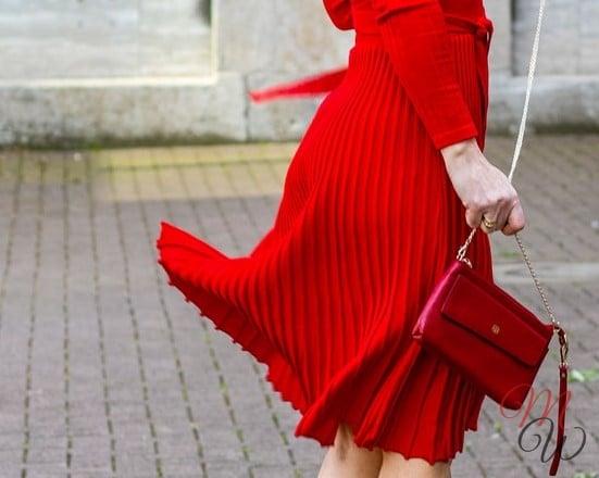 Plissee Kleid