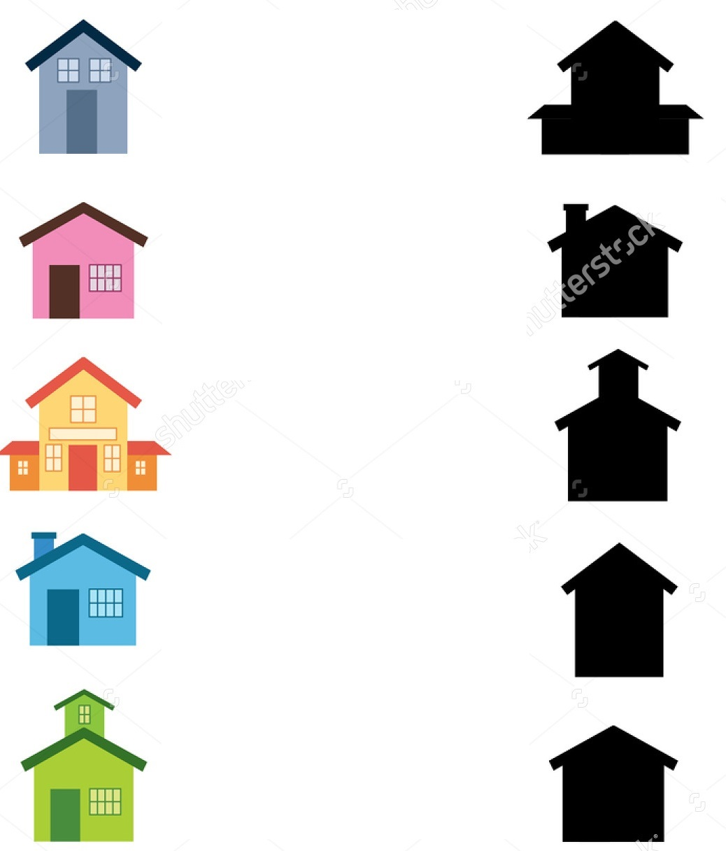 Stock Photo Worksheet Recognizing Shapes Draw A Line To