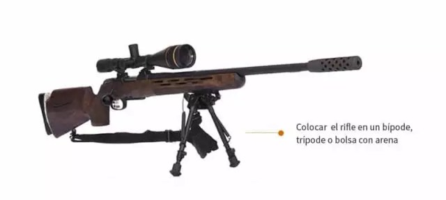 posicionar el rifle en un lugar fijo