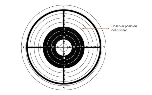 observar la posicion del disparo
