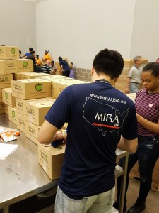 MIRA USA Volunteers Joined the Houston Food Bank