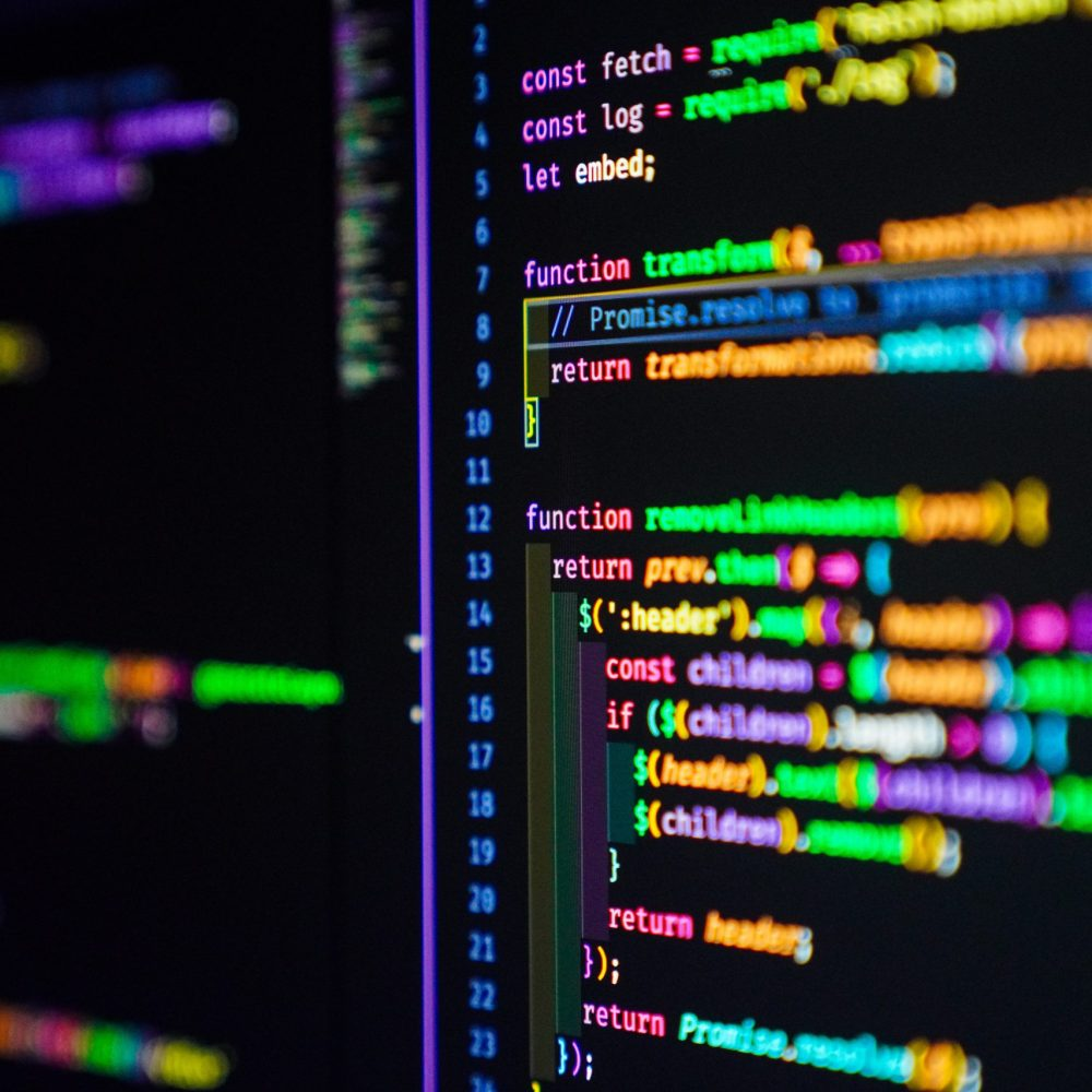generic photo of colorful code on a screen