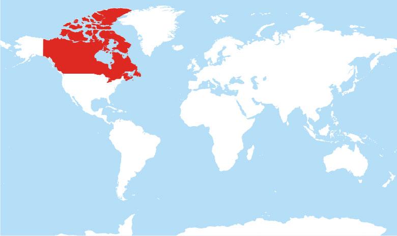 जहां कनाडा स्थित है