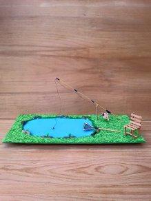 Diorama-peisaj la pescuit