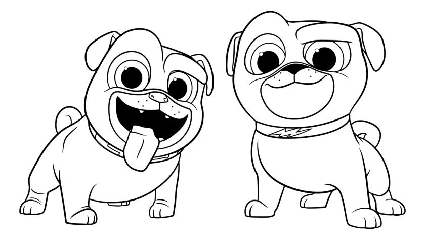 similiar puppy dog pals bingo coloring pages that are