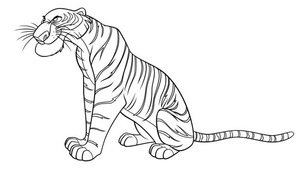Раскраска - Книга джунглей - Шерхан | MirChild