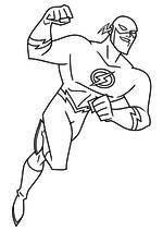Раскраска - Лига Справедливости - Флэш | MirChild