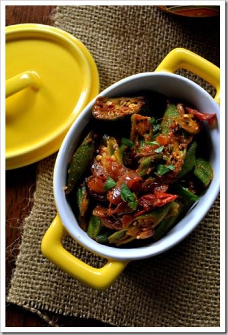 Bhindi Masala - Okra Masala - Vegetarian - Vegan - Indian Food - Cooking Curries