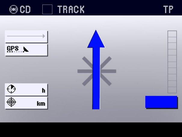 Autostadt - GPS display move forward arrow