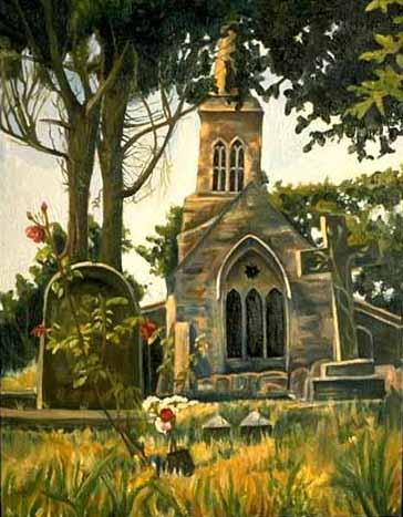 Little Gidding Churchyard — oil on canvas — 1993