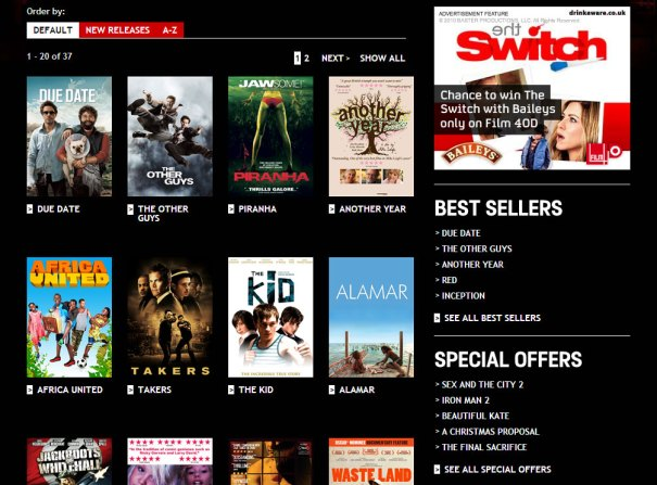 Film4oD - New releases page