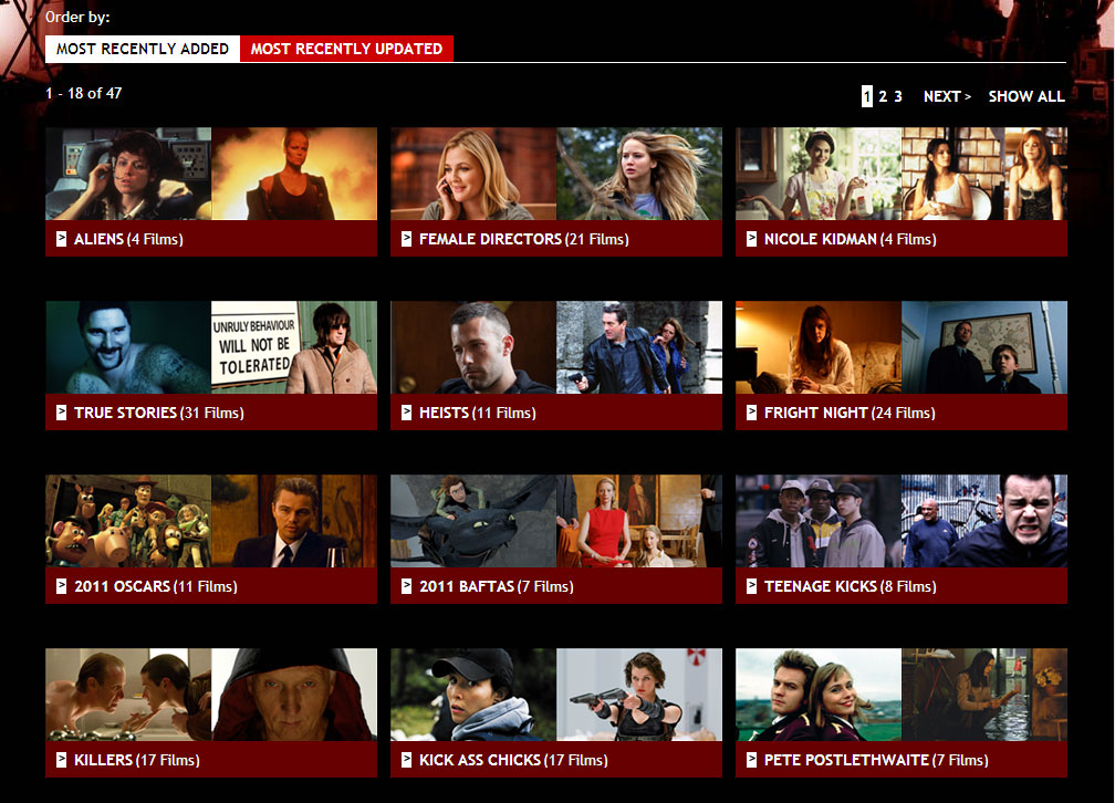 Film4oD - Seasons page