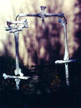 Gateway — PVC pipe, plaster, metal lathe, mud — 1990