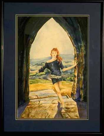 Doorway to Glastonbury * Watercolor on paper * 1992