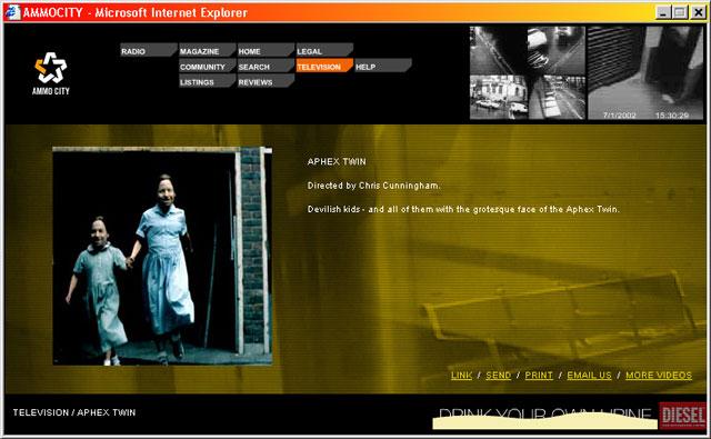 Ammocity — Television description for Aphex Twin video