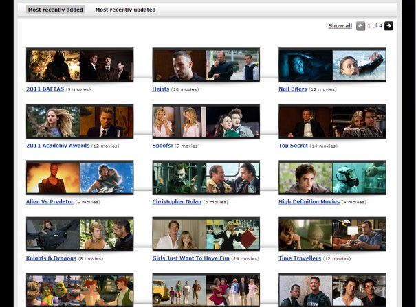 Virgin Media Online Movies - Collection page