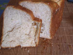 Corte de pan de molde con soja