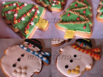 Arbolitos y Muñecos de Nieve