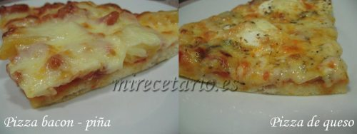 Dos pizzas sin gluten, (pulsa para ampliar)