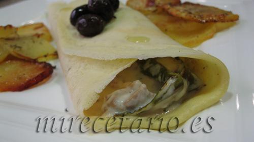 Crepes de Ternasco con olivas negras del Bajo Aragón