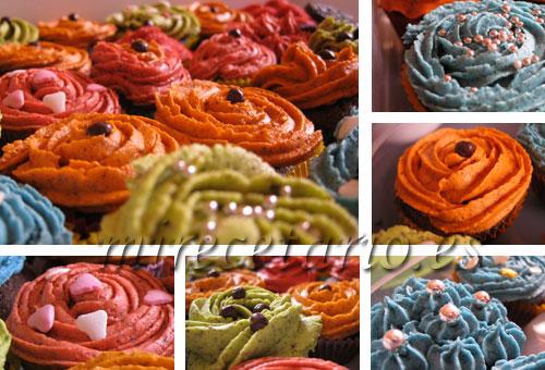 Cupcackes de colores, la primavera en mirecetario.es