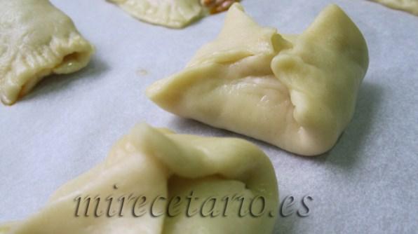 También hemos hecho paquetitos, una forma diferente de empanadilla.