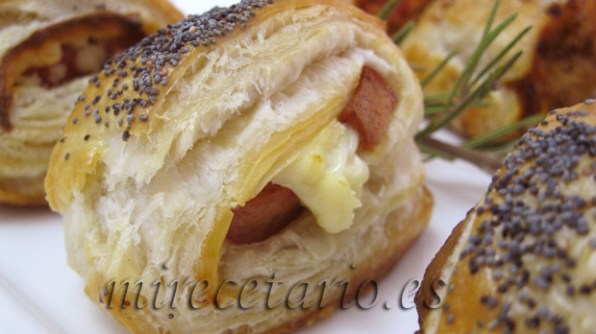 Detalle del saladito hot dog.