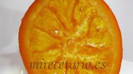 Naranja confitada casera.