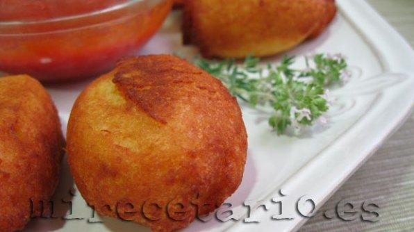Patatas huecas de cerca