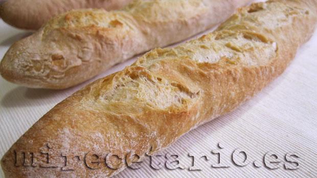 Baguette francesa, estrecha y deliciosa