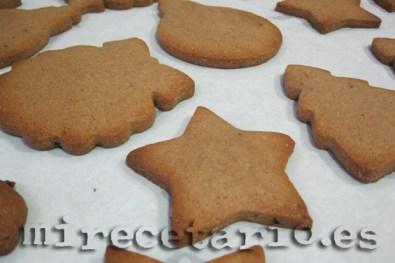 Las galletas recién salidas del horno
