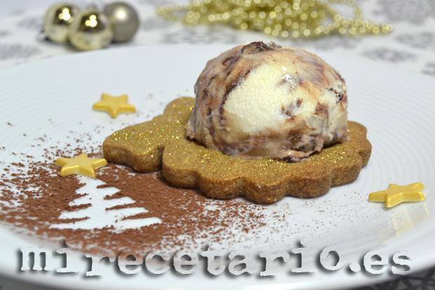 Galletas de café con helado de Zambaione