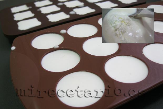 Elaboración en moldes de bombones