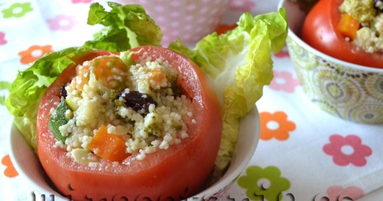 Tomates rellenos de cuscús de verduras al vapor {BBSS}