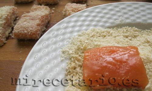 Empanado con huevo y panko